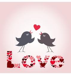 Bird of love8 vector image vector image
