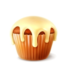 Cupcake detailed vector image vector image