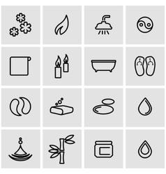 line spa icon set vector image