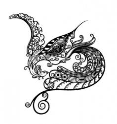 abstract phoenix vector image