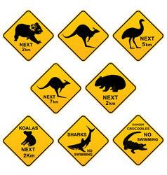 Australian Roadsigns vector image