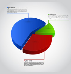 business info graphic diagram vector image vector image