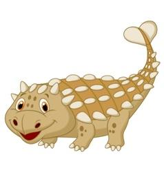 Cute dinosaur ankylosaurus cartoon vector image