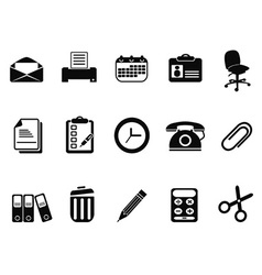 office tools icons set vector image vector image