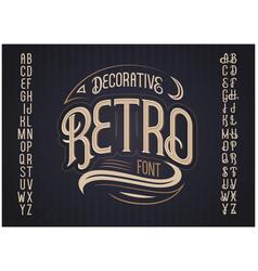 retro typeface font vector image