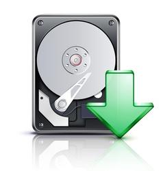 computer download concept vector image vector image