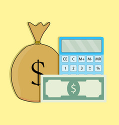count money vector image vector image