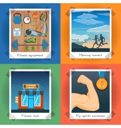 Fitness Concept Set vector image vector image