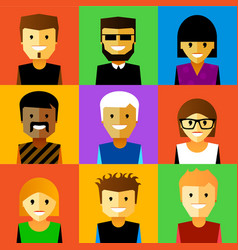 funny cartoon faces vector image