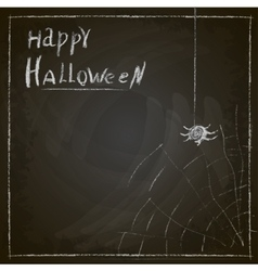 Halloween spider web painted on chalk on a vector image
