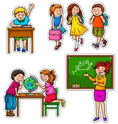 School kids vector