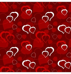 Seamless Valentines wallpaper vector image