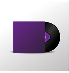 solated vinyl music plate vector image