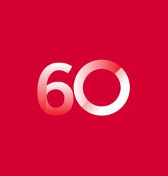 60 years anniversary celebration gradient vector