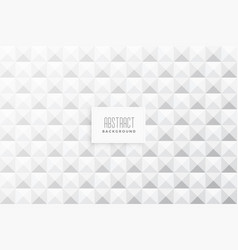 abstract 3d triangles shape white background vector image