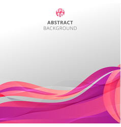 abstract colorful pink waves with pattern lines vector image