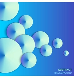 Abstract paper bubbles background with lights vector image