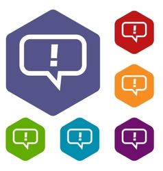Answer rhombus icons vector