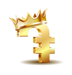 Armenian dram currency symbol gold money sign vector