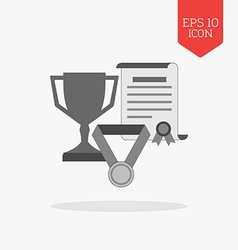 Awards achievements concept icon Flat design gray vector image