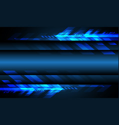 blue light arrow technology with blank space vector image