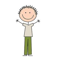 boy draw vector image