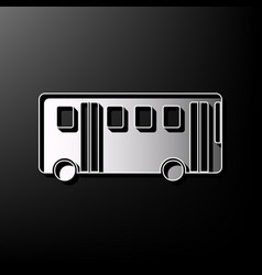 bus simple sign gray 3d printed icon on vector image