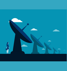 Businesswoman and radar technology concept vector