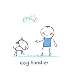 Canine training a dog vector