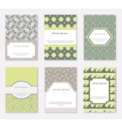 Cards and patterns set vector image