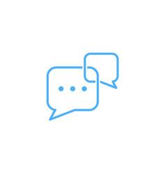 chat talk logo chat talk logo vector image