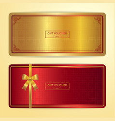 Chinese style gift certificate voucher gift card vector