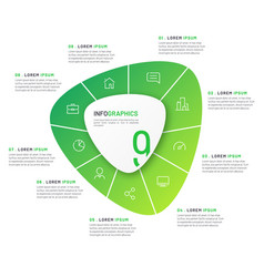 circular infographic template in form vector image