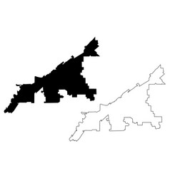 Cleveland city map vector