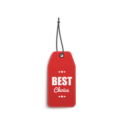 clothing hang tag with words best choice hanging vector image
