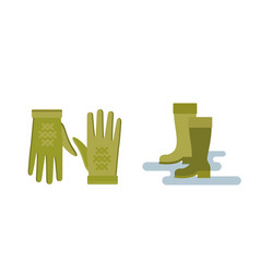 Collection of autumn clothes set items the fall vector