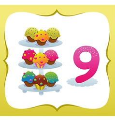 Collection Sweet Numbers for Kids 9 vector image