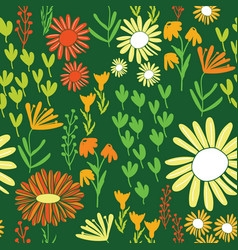 colorful daisy world garden repeating seamless vector image