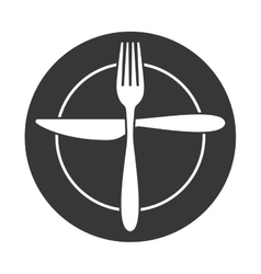 cutlery tool kitchenware isolated icon vector image
