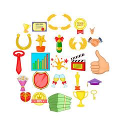 dear participant icons set cartoon style vector image