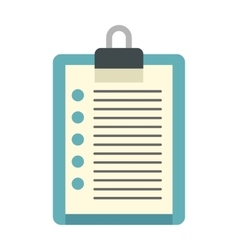 Document plan icon flat style vector image