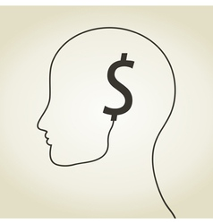 Dollar a head vector image