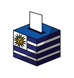 Election day uruguay urn vector