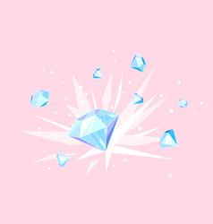 Explosion diamonds concept vector