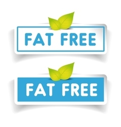 Fat free label set vector image
