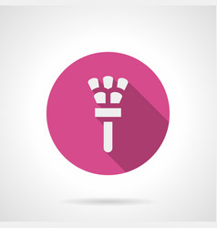 feather duster pink round icon vector image