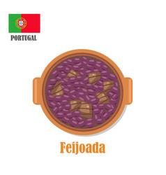 feijoada national portugal dish vector image