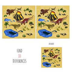 find 10 differences search spots vector image
