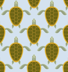 Flock of sea turtles water turtle seamless pattern vector