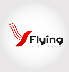 Flying bird logo design vector